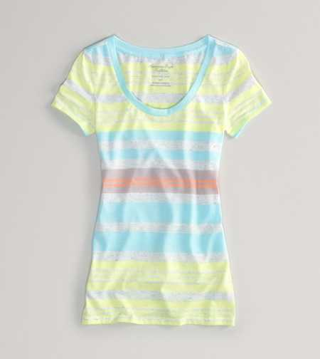 AEO Factory Striped Favorite Tee