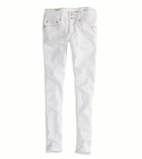 White  AEO Factory Skinny Crop Jean