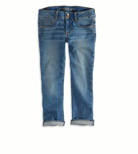 Medium Wash Artist Jean Crop