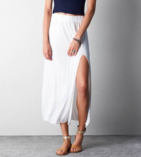 Natural Don't Ask Why Side Slit Maxi