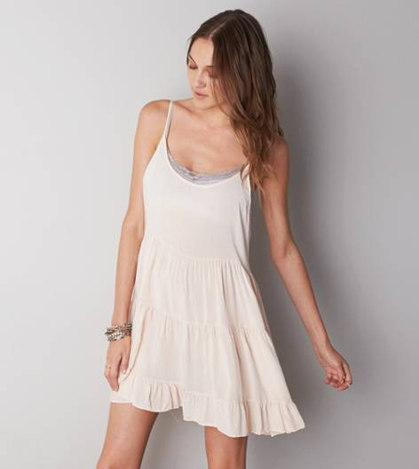Cream Don't Ask Why Babydoll Dress