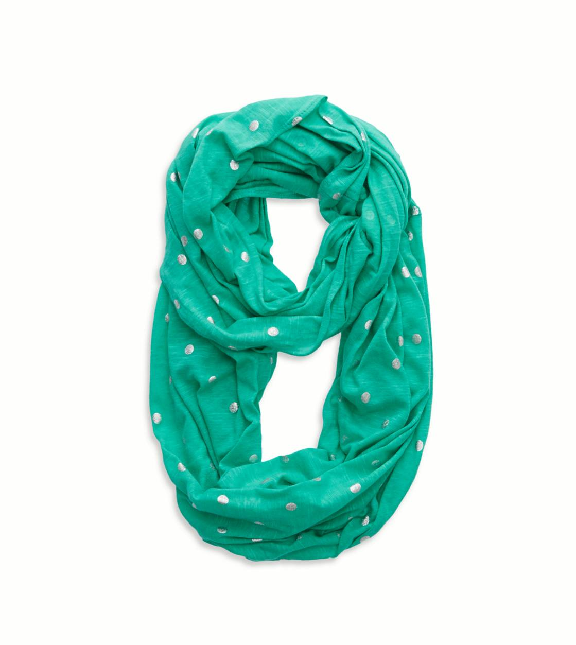 Mint Leaf Aerie Shine Dot Loop Scarf