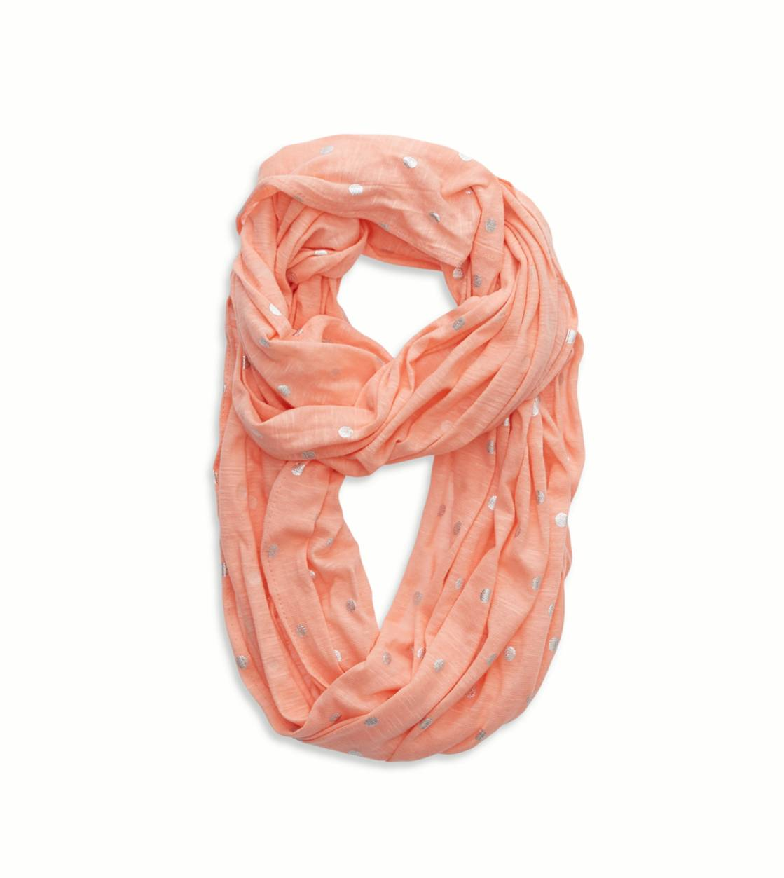 Orange Julius Aerie Shine Dot Loop Scarf