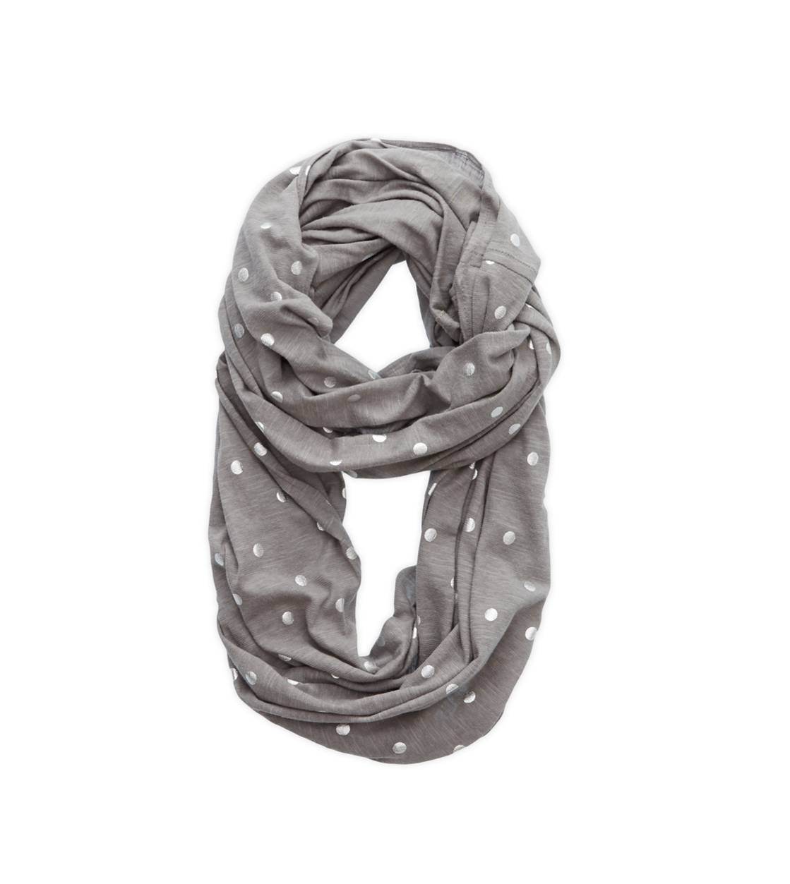 Slab Grey Aerie Shine Dot Loop Scarf