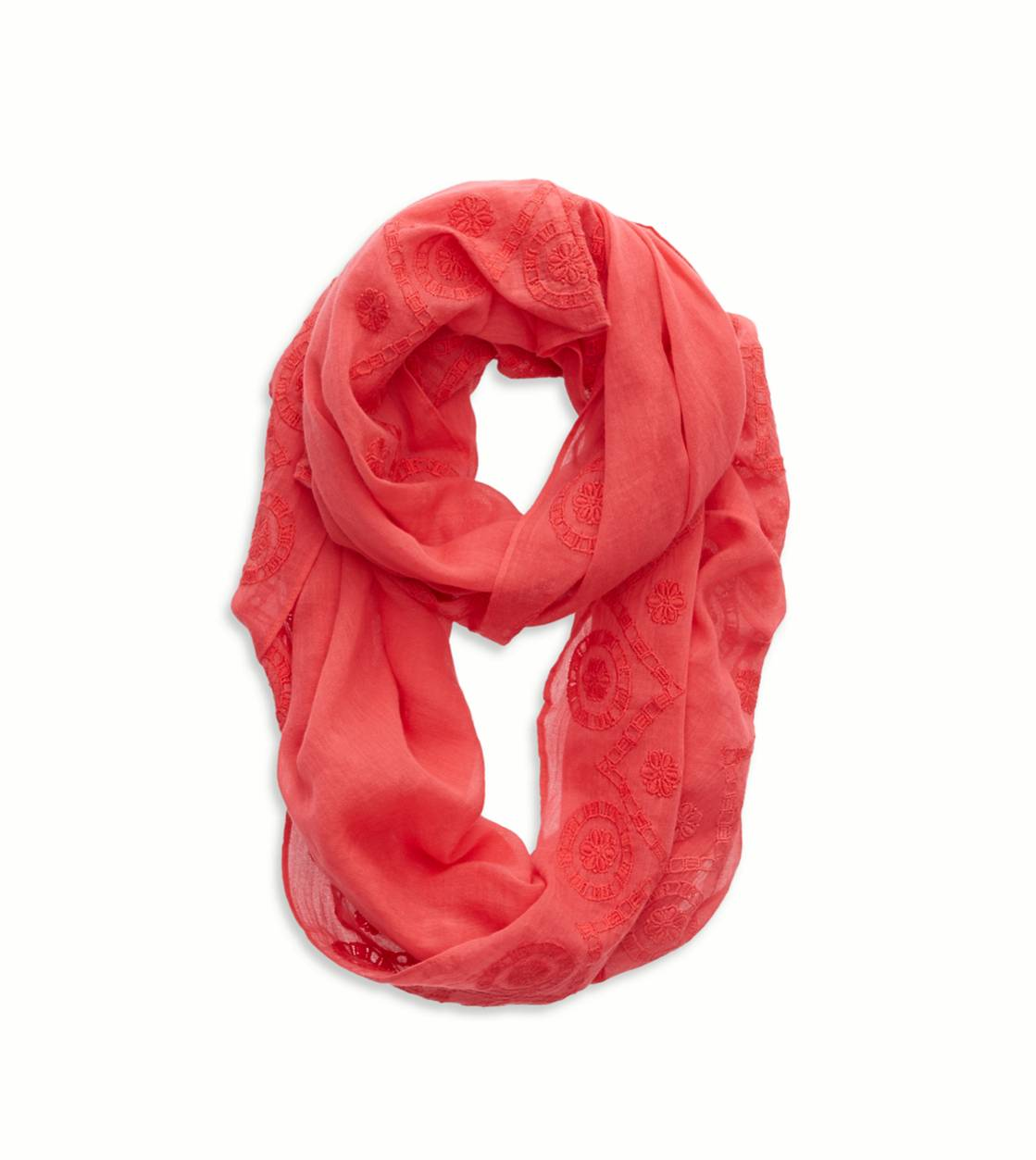 Whipped Strawberry Aerie Embroidered Loop Scarf
