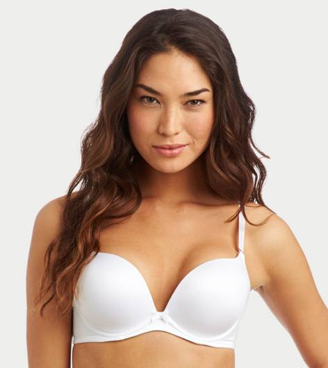 White  Drew Pushup Bra