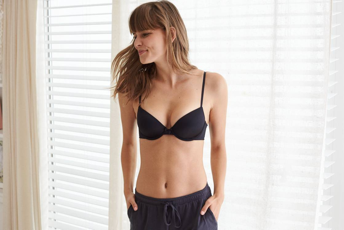 True Black Ella Gel Pushup Bra