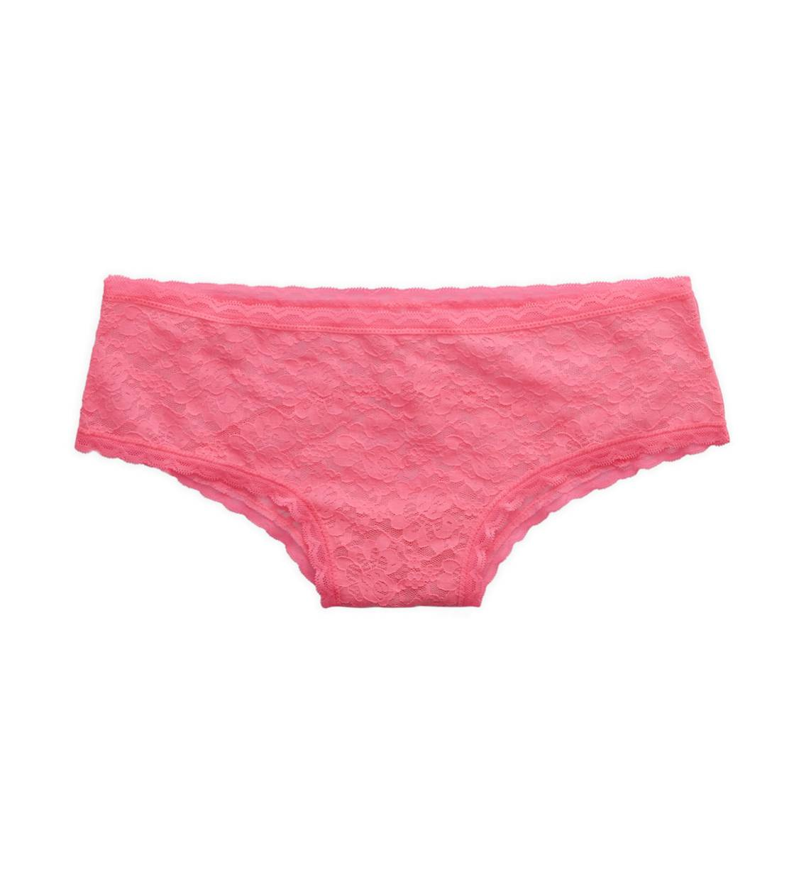 Dragon Fruit Aerie Vintage Lace & Mesh Cheeky