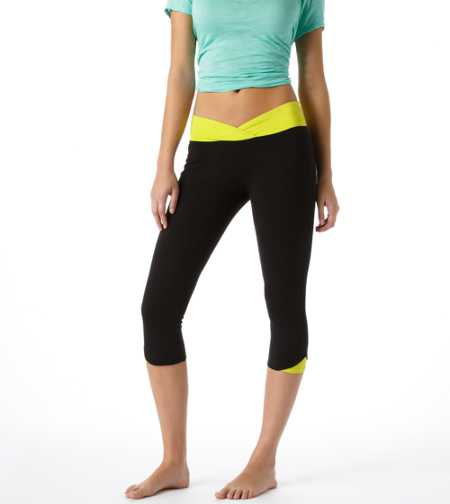 Aerie Slim Gym Yoga Crossover Skinny Crop Pant