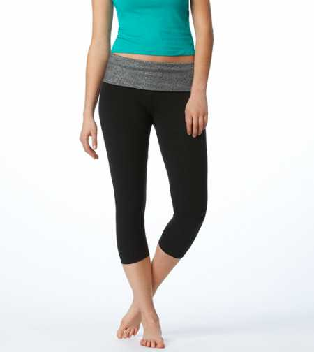 Aerie Slim Gym Yoga Skinny Crop Pant
