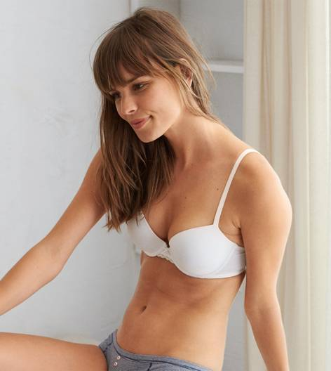 White  Blakely Classic Lightly Lined Bra