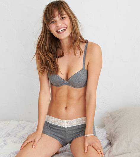 Dark Heather Grey Blakely Lightly Lined Bra