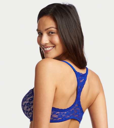 Blakely Vintage Lace Lightly Lined Racerback Bra - Free Boxer With a Bra Purchase