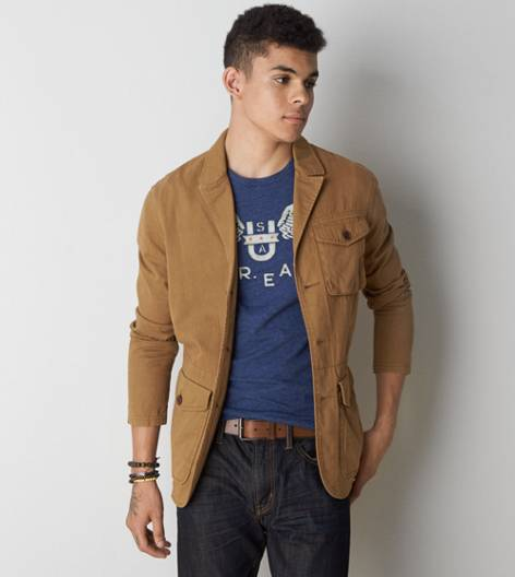 Khaki AEO Field Jacket