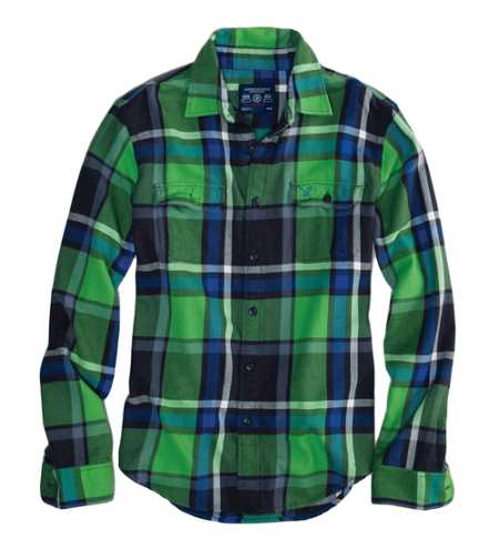 AE Plaid Flannel Shirt - Athletic Fit