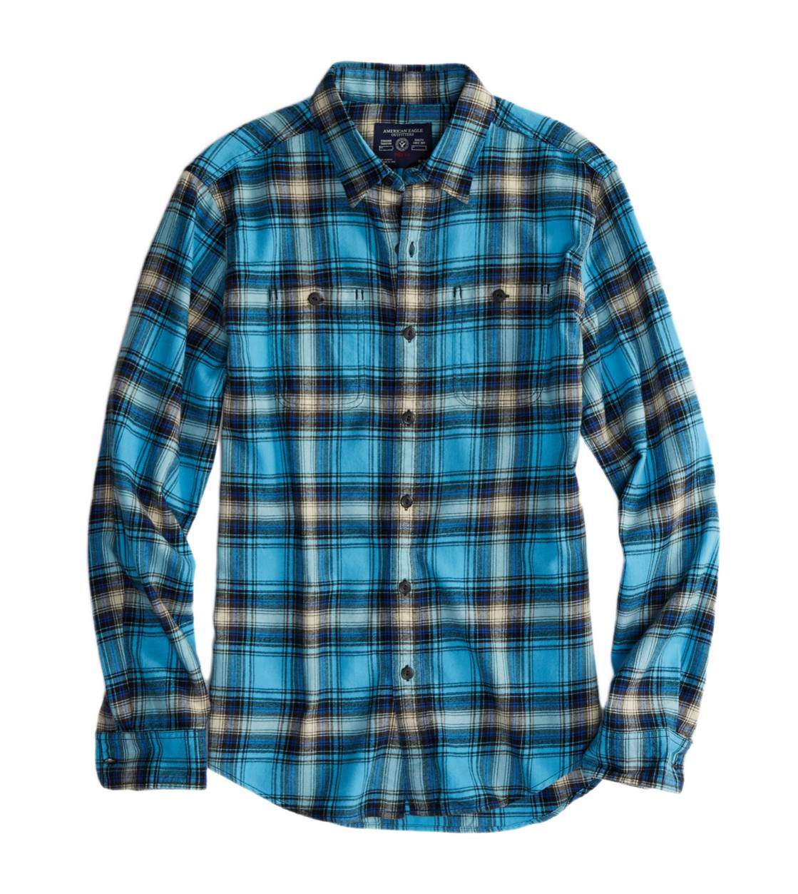 Light Blue AE Epic Flannel Shirt