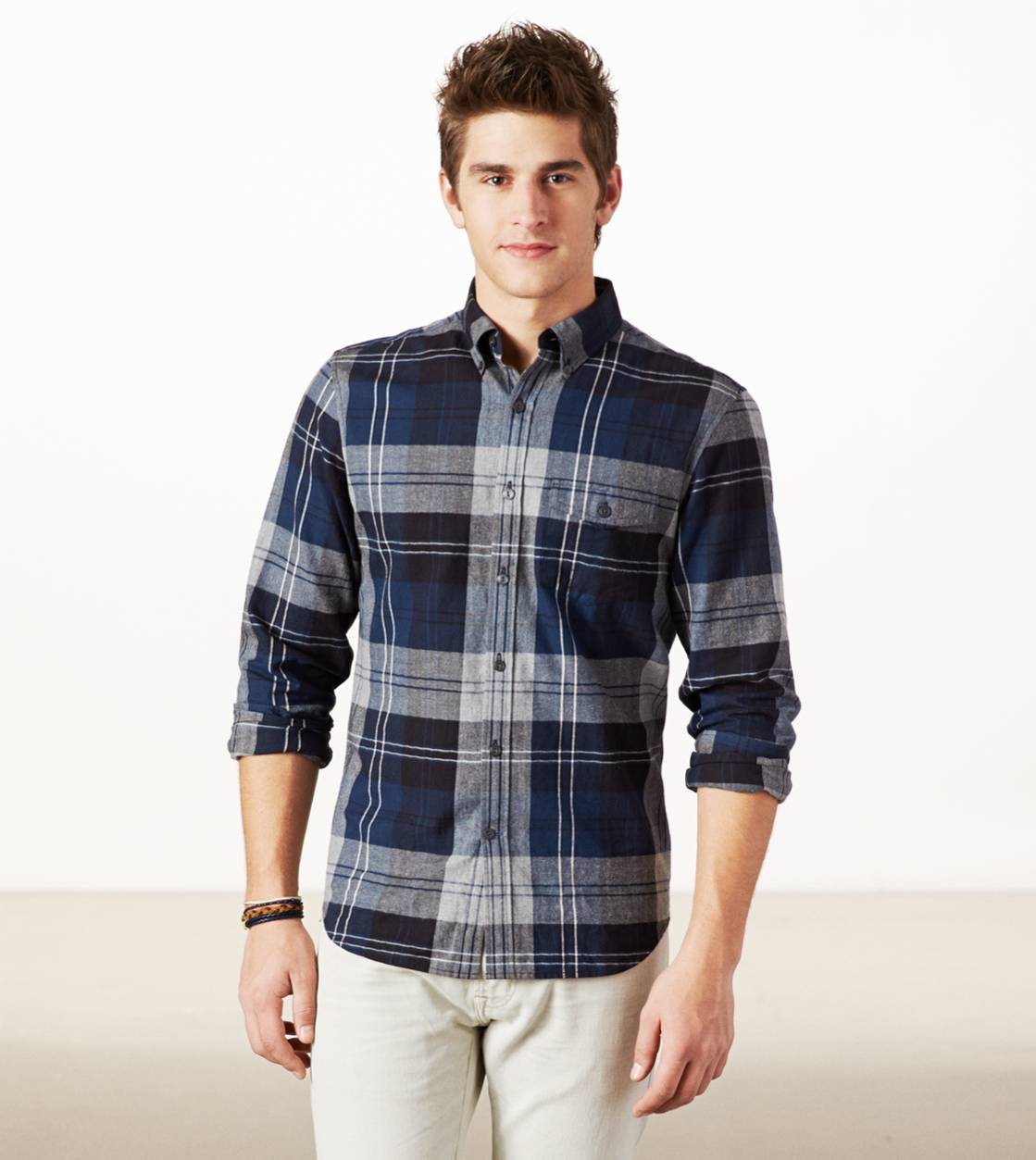 Blue AE Epic Flannel Shirt