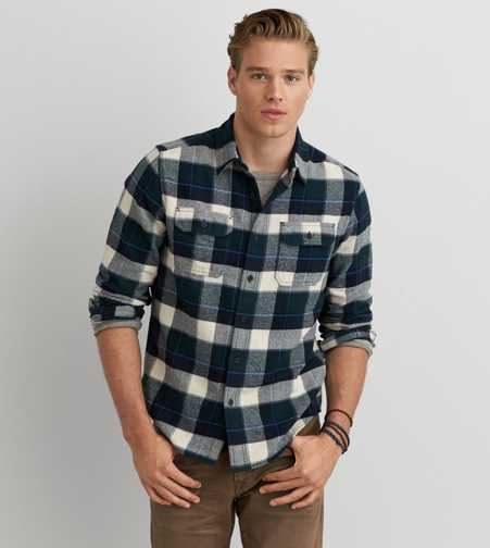AEO Heritage Button Down Flannel  - Buy One Get One 50% Off