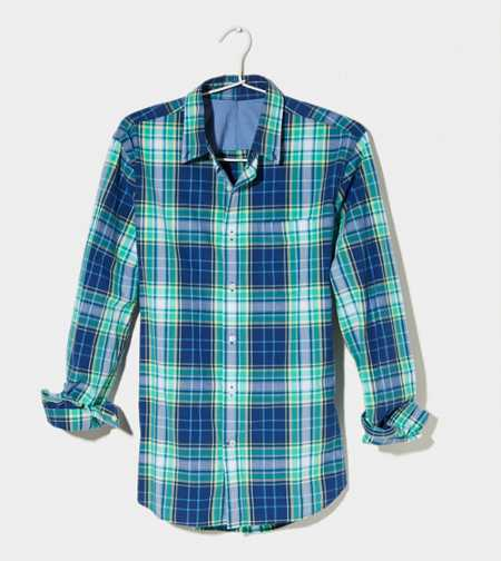 AE Plaid Button-Down - Athletic Fit
