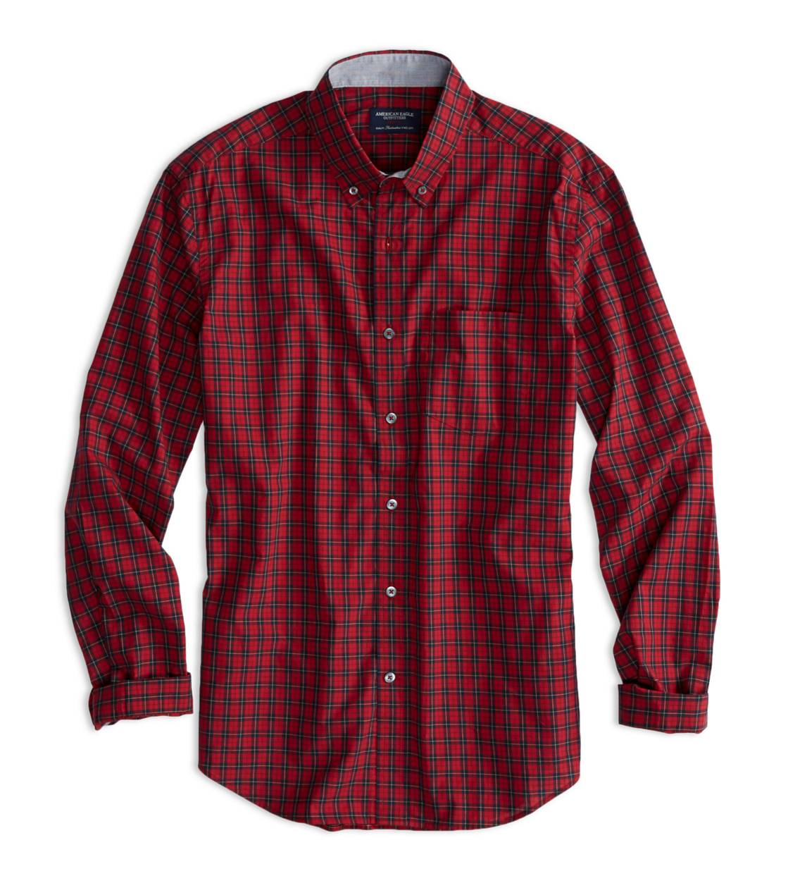 Red Cord AE Plaid Button Down Shirt