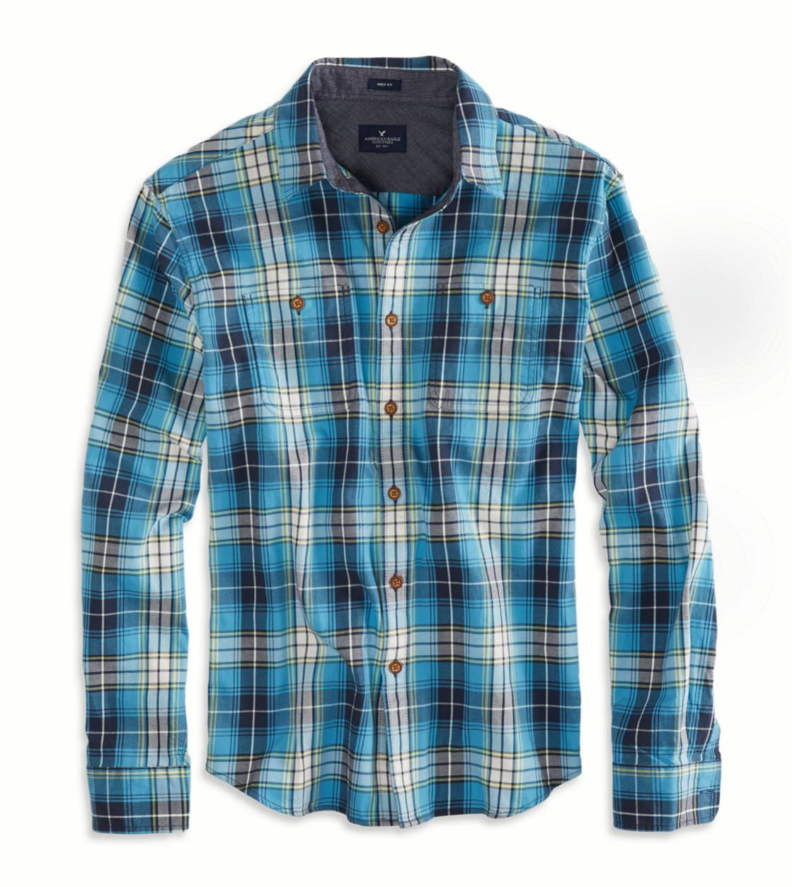 Blue AE Plaid Workwear Shirt
