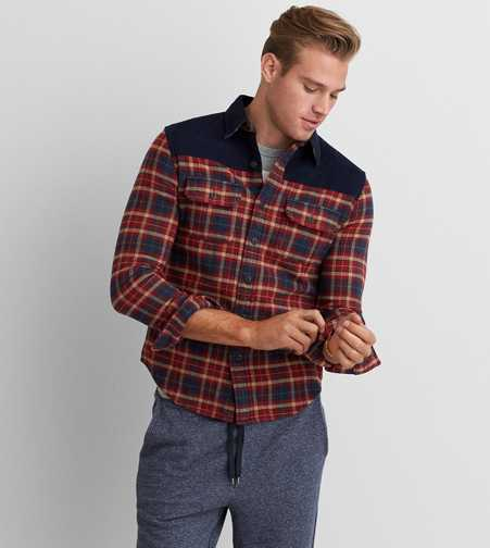 AEO Patched Overshirt