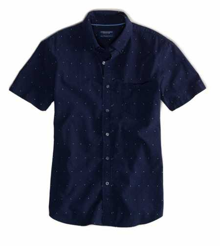 AE Embroidered Short Sleeve Button-Down - Vintage Fit