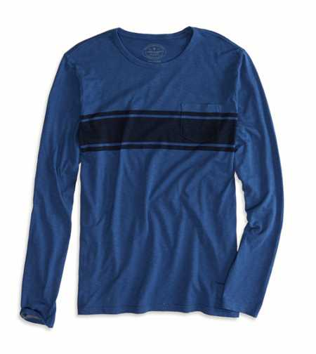 AE Striped Long Sleeve Pocket T-Shirt