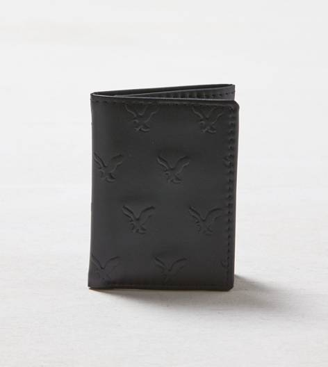 Black AEO Leather Trifold Wallet