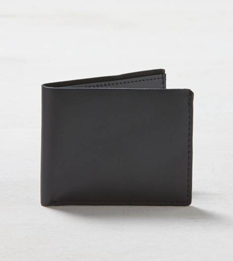 Black AEO Leather Bifold Wallet