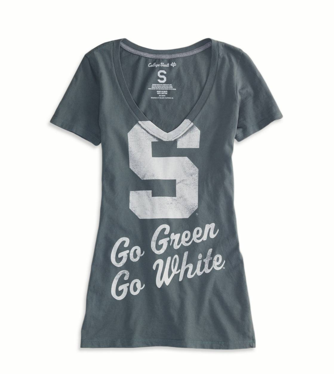 Green Michigan State Vintage Short Sleeve T