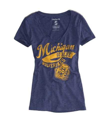 Michigan Vintage V-Neck Tee