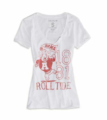 Alabama Vintage V-Neck Tee