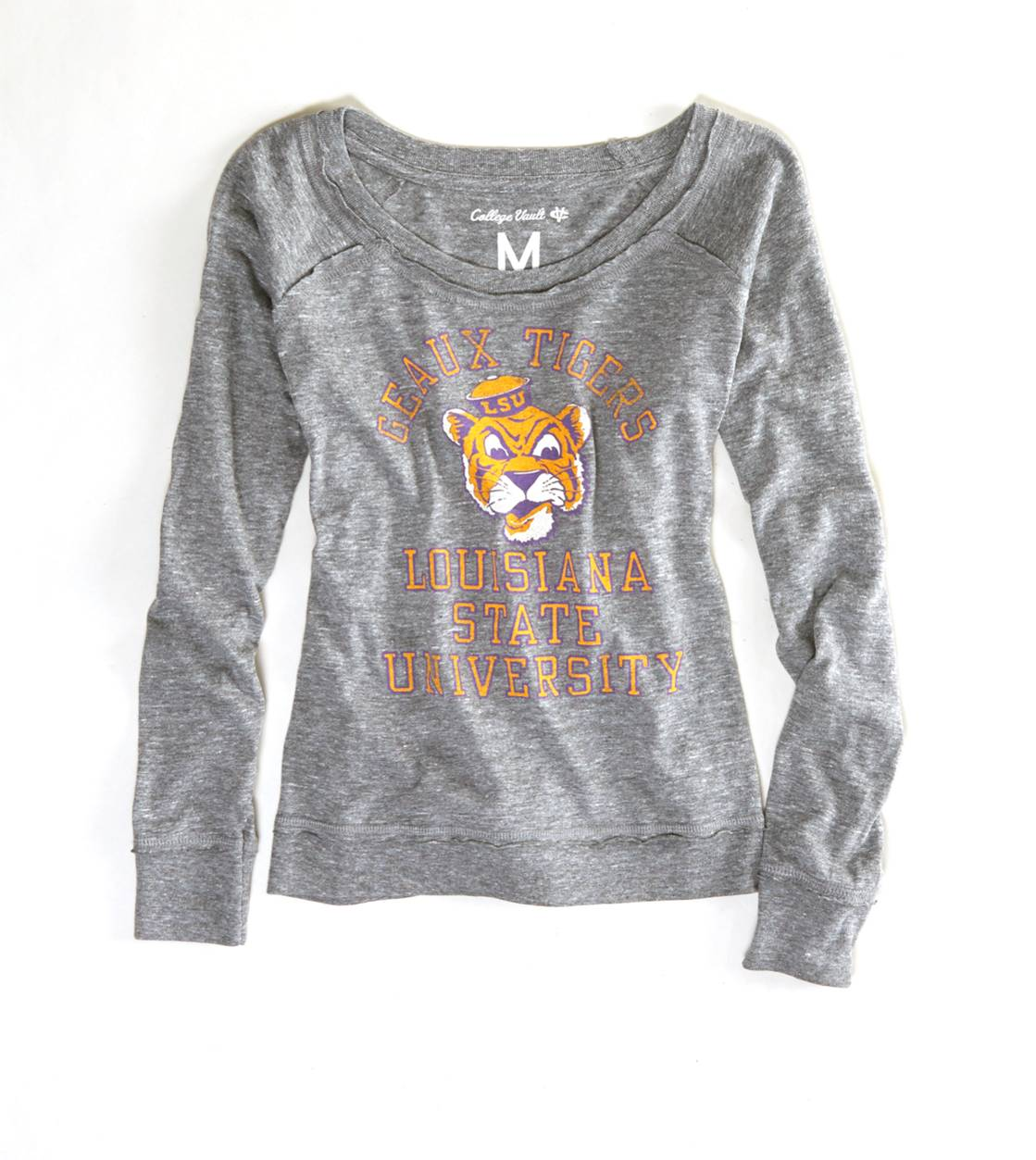 Heather Grey LSU Vintage Long Sleeve T-Shirt