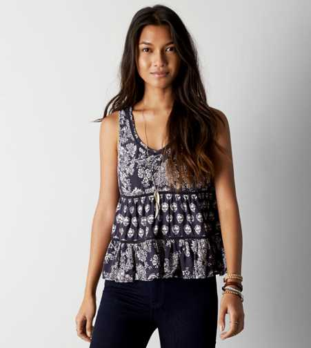 AEO Printed Boho Tank - Buy One Get One 50% Off