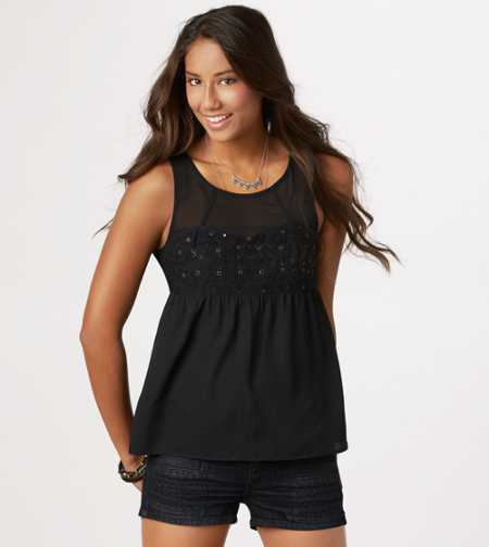 AE Sequined Sweetheart Tank