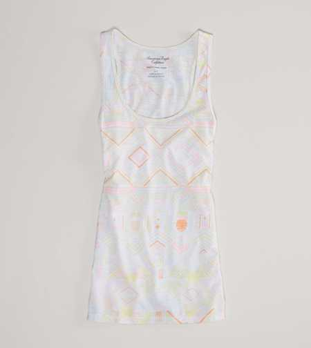 AE Printed Boyfriend Tank - Take 40% Off