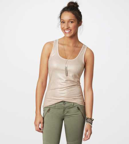 AE Metallic Boyfriend Tank - Take 40% Off