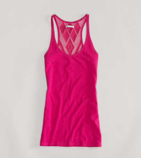 AE Mesh Back Boyfriend Tank - Take 40% Off