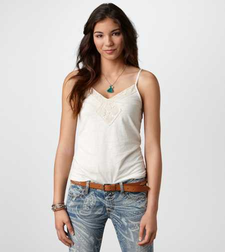 AE Crochet Trim Cami - Take 40% Off