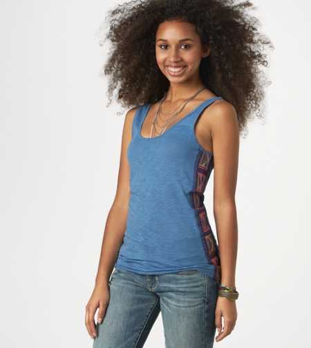 AE Embroidered Boyfriend Tank - Take 40% Off