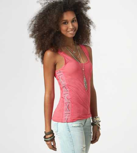 AE Embroidered Boyfriend Tank