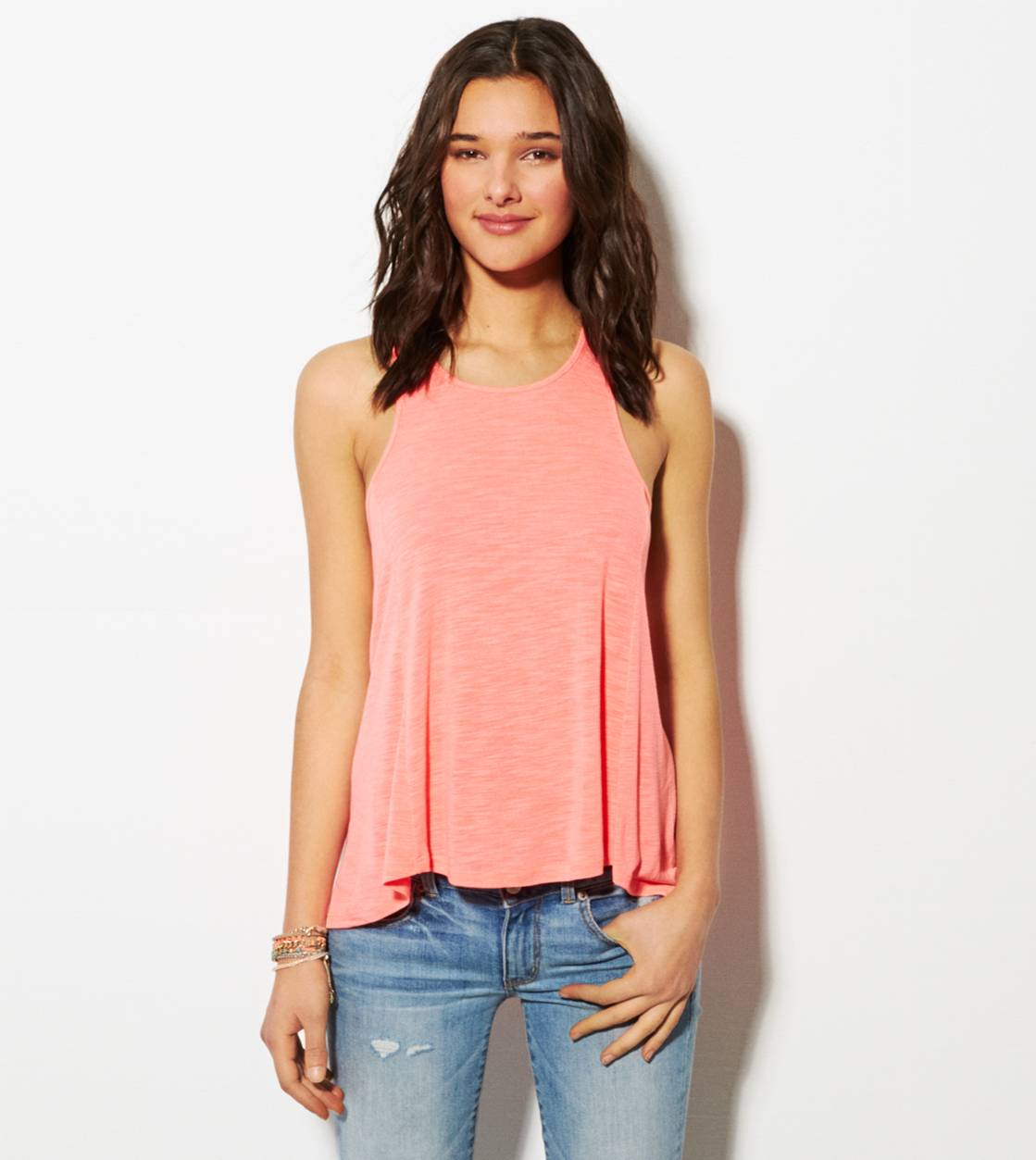 Coral Burst AE Zip-Back Tank