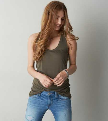 AEO Waffle Back Tank - Buy One Get One 50% Off