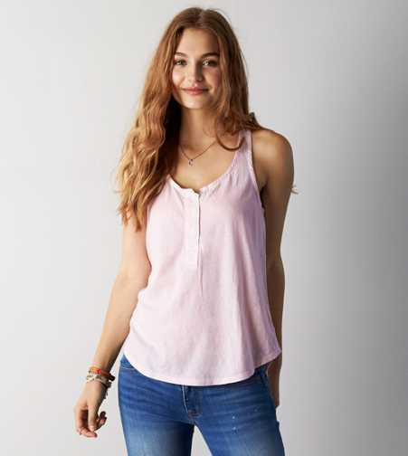 AEO Henley Tank - Buy One Get One 50% Off