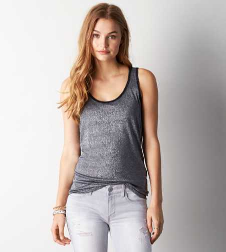 AEO Shimmery Boyfriend Tank - Buy One Get One 50% Off
