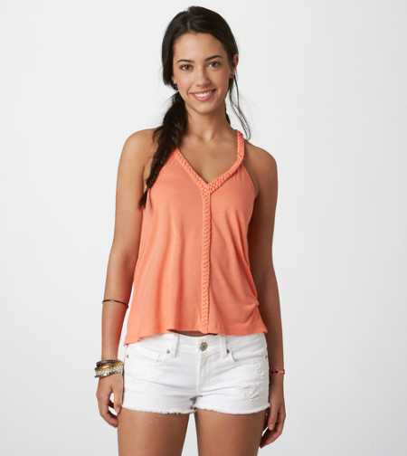 AE Macrame Zip-Back Tank - Check Out The Back!