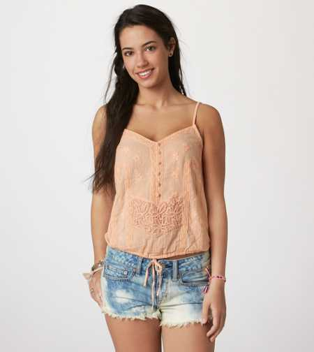 AE Embroidered Lace Cami