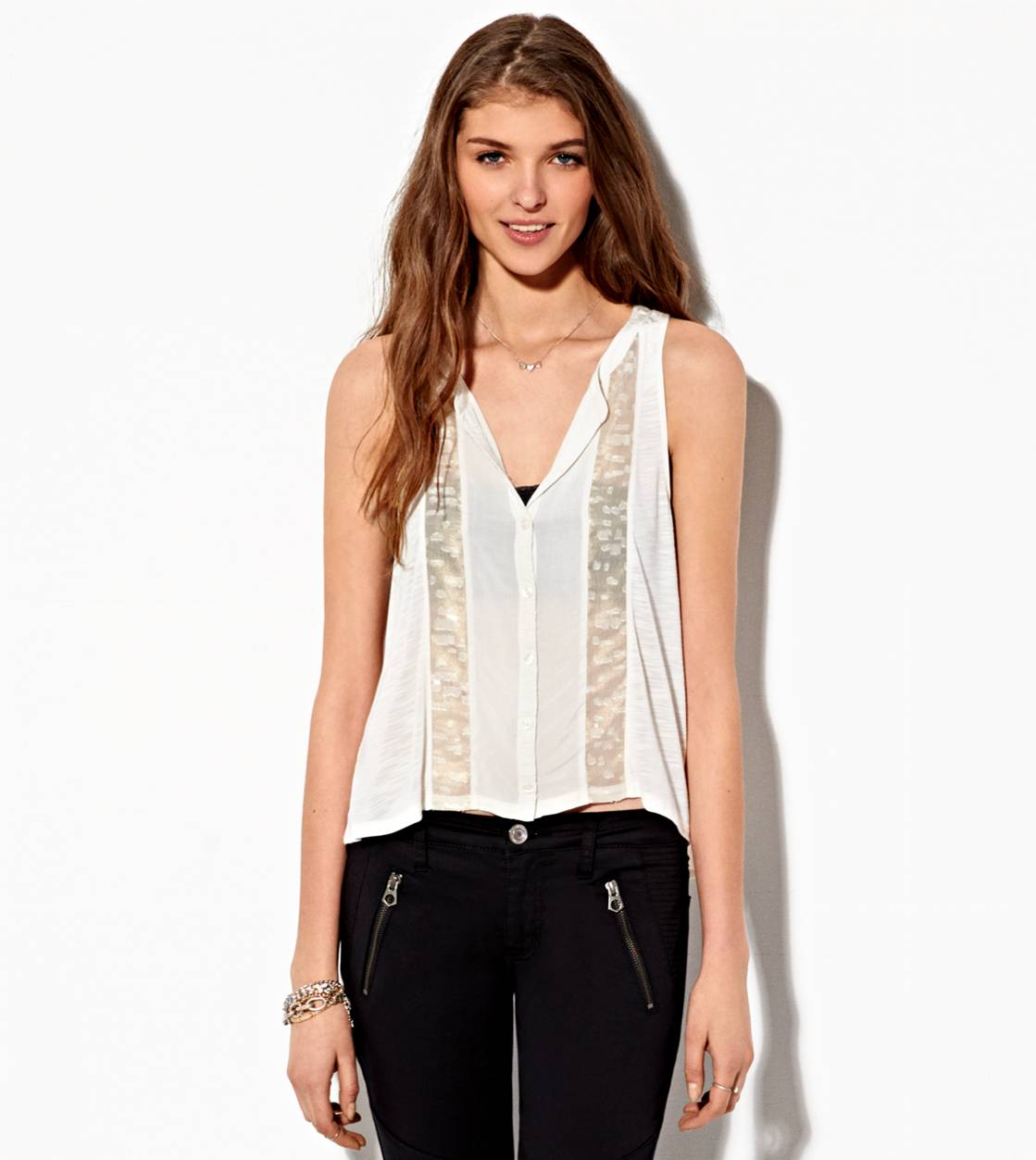 Chalk AE Button Down Panel Tank