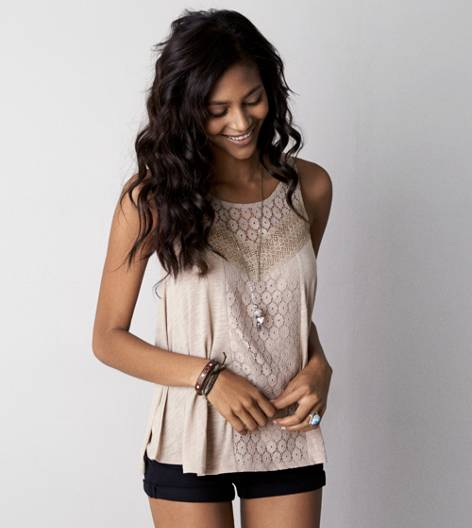 Fox Run AE Mixed Lace Tank